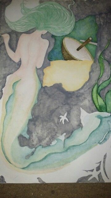 Unfinished- sunken treasure- watercolour