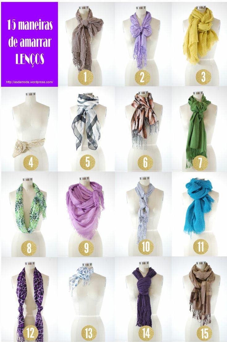 15 maneiras de amarrar lenços