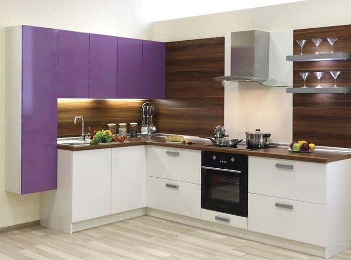 Кухня модерн угловая 2, маленькие кухни, кухня модерн от производителя, характеристики, Блюм, цена