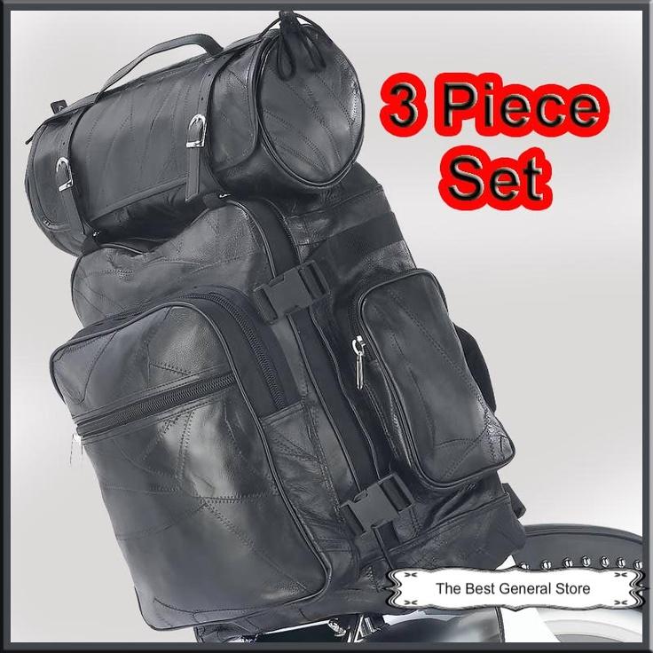 Black Three piece Leather Bag  assets4.pinimg.com