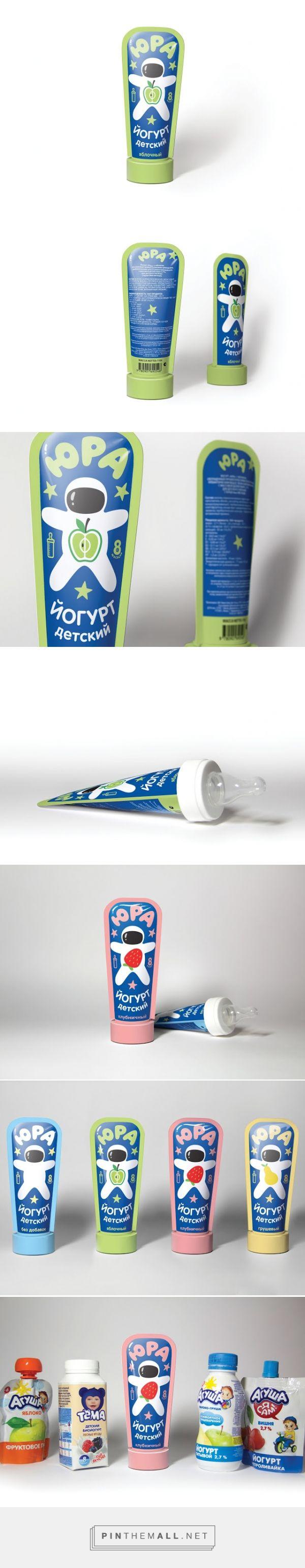 Yura - Yogurt For Babies #concept #packaging by Petr Moskalev - http://www.packagingoftheworld.com/2015/02/yura-yogurt-for-babies-student-project.html