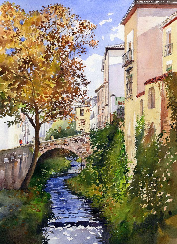 Bridge over the Rio Darro, Granada