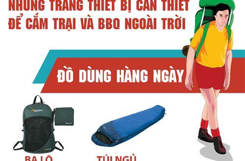 Những vật dụng cần thiết cho việc đi cắm trại ngoài trời   Hướng dẫn viên du lịch Việt Nam