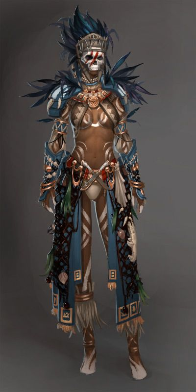 Guild Wars 2: Voodoo Female by ~YeeWu on deviantART