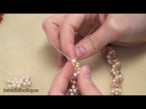 ▶ How to Do Spiral Rope Stitch for Beading & Make a Bracelet - YouTube