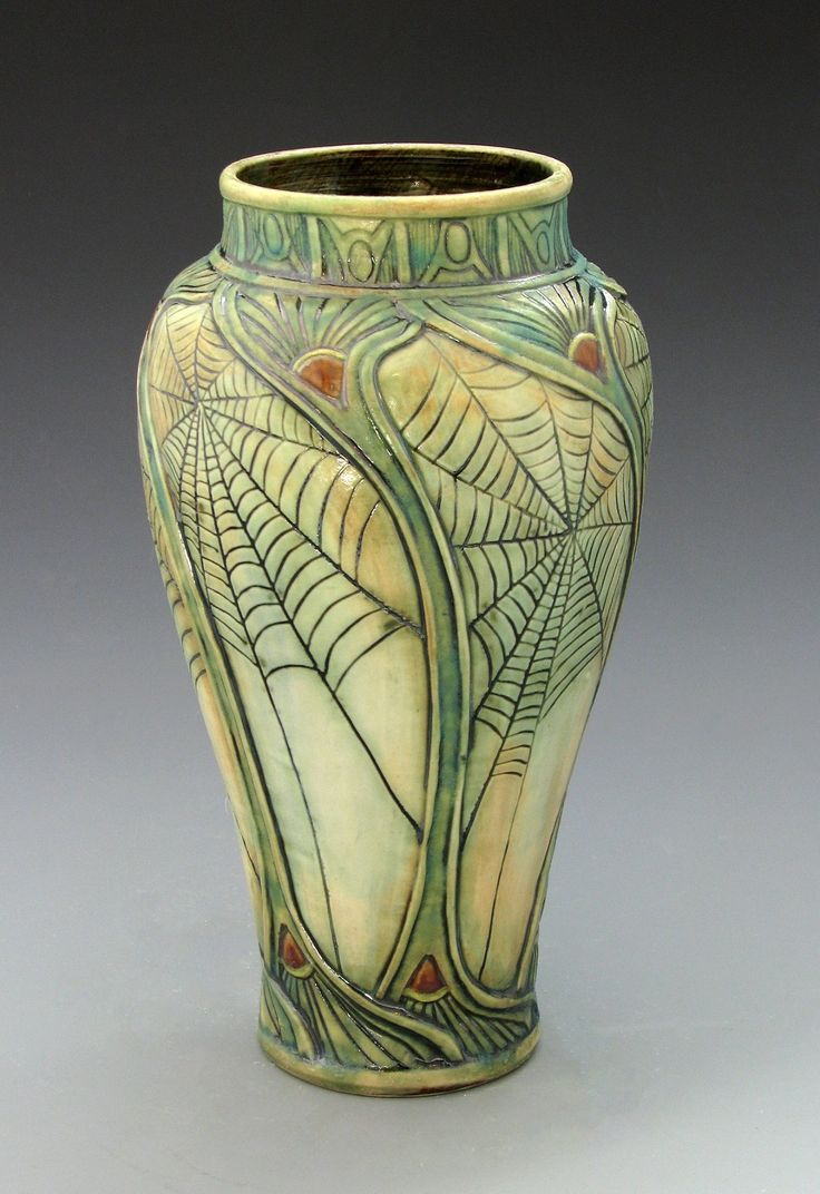 274 best images about calmwater designs stephanie young for Arts and crafts vases pottery