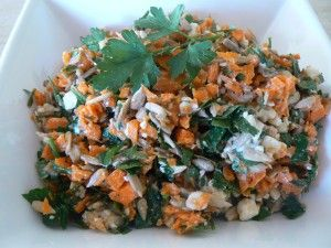 Carrot Super Salad - Recipe by Louisa Matwiejczyk APD