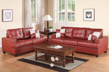 Carmine Bonded Leather Sofa and Loveseat Set F7579