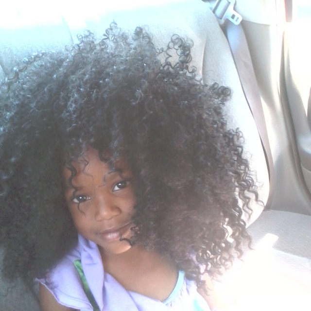 Black little girl with Big Curly Hair! She is so precious,children with natural hair! www.howtoblackhair.com