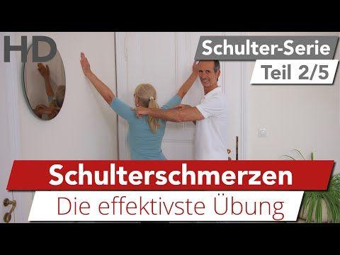 Schulterschmerzen // Die effektivste Übung bei Schulterbeschwerden - YouTube