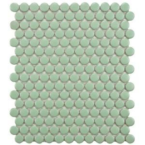 Merola Tile, Metro Penny Matte Light Green 9-7/8 in. x 11-1/2 in. x 5 mm Porcelain Mosaic Floor and Wall Tile (7.96 sq.ft./case), FXLMPMG at The Home Depot - Tablet