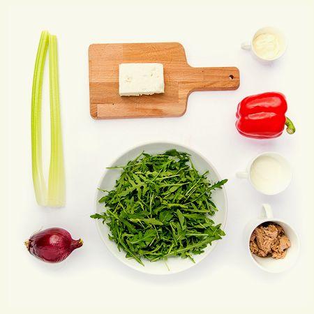 Salata cu ton si sos de smantana