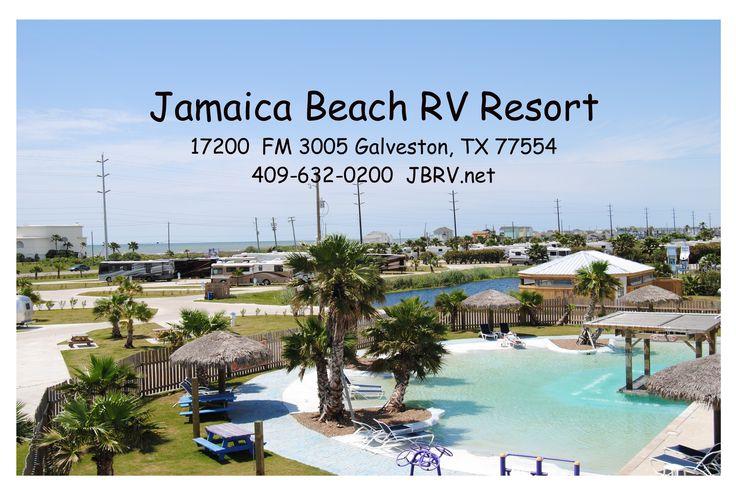 Jamaica Beach RV Resort in Galveston Texas, park map.