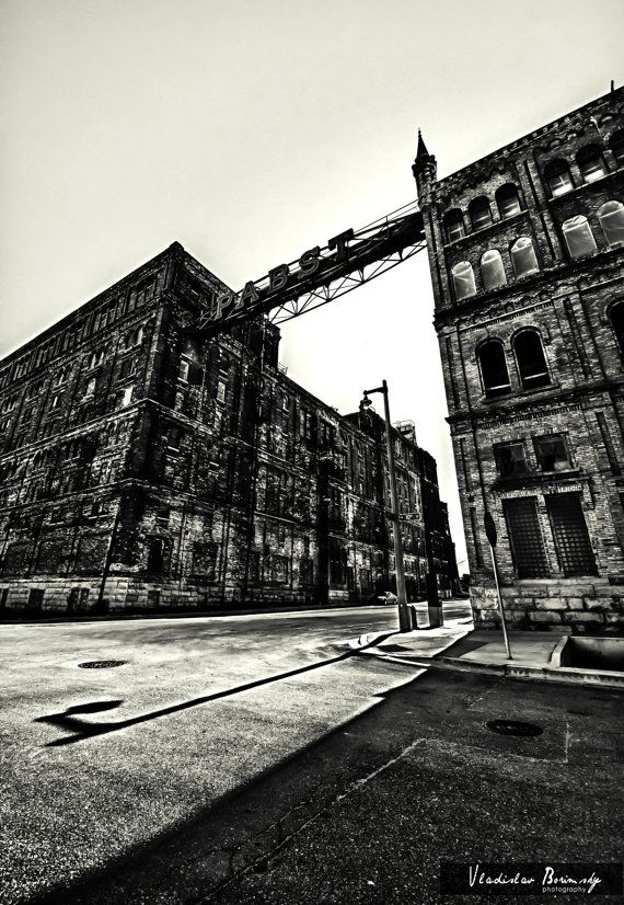 Milwaukee photography pabst factory black white photograph milwaukee wisconsin 8x10 photo