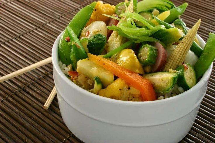 #LaReceta · Verduras al vapor. Cocina sana y ligera   #Gastronomía