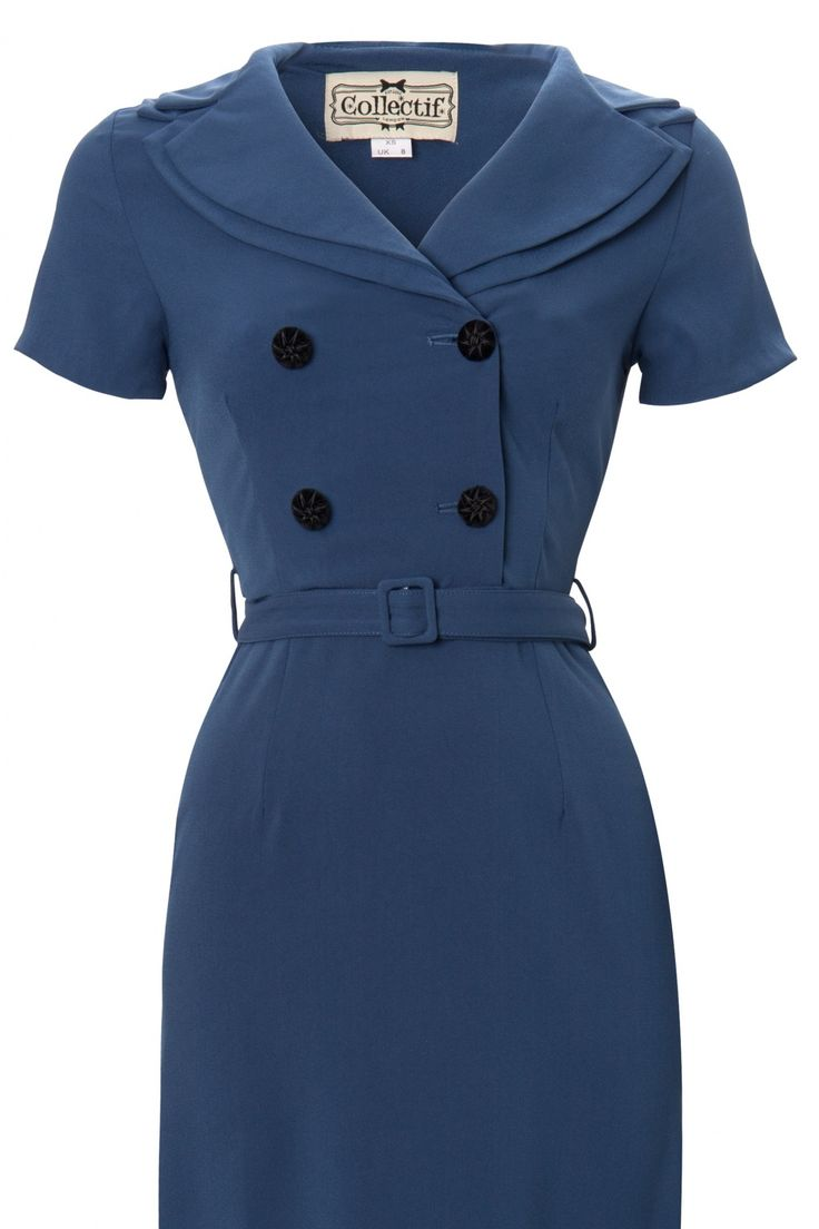 40s+fashion | ... clothing clothing dresses pencil dresses blue dresses tags 40s short