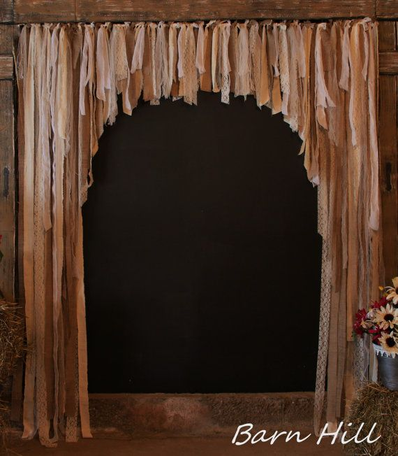 Barn Door Curtains Rag Curtain Wedding by BarnHillWeddingDecor