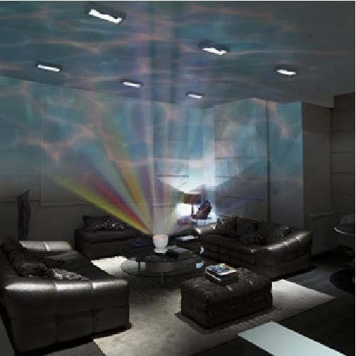 Soothing Ocean Wave Projector LED Night Light with Built-in Stereo Speakers  #Gideon