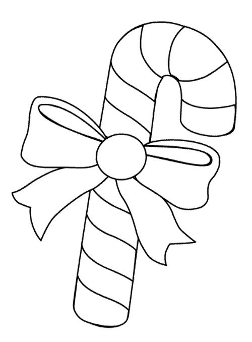 Big Candy Cane Coloring Page