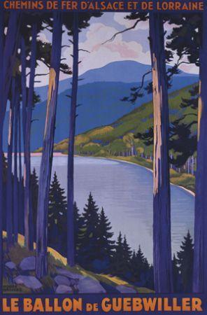 Affiche ancienne du Lac du Ballon - Guebwiller