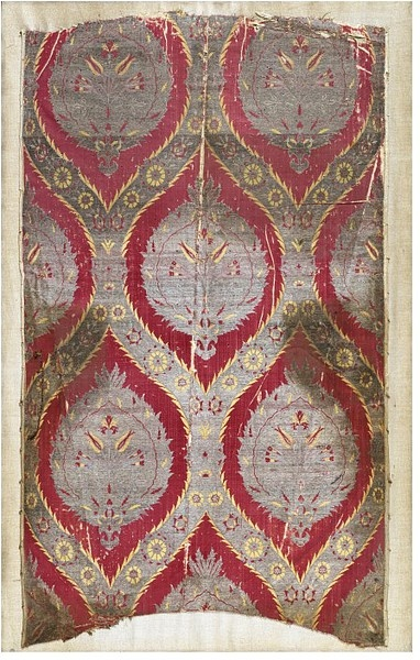 Dress Fabric - 16th/17th C. - Istanbul  Thrilled at fingering antique textile remnants in the Bazaar of Istanbul.