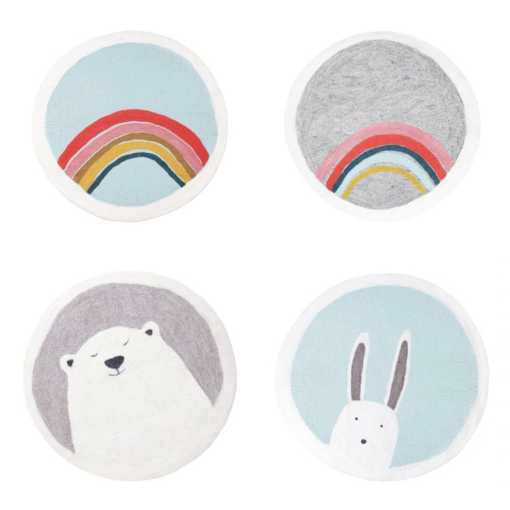 Felt rugs for kids, available at Bobby Rabbit.  www.bobbyrabbit.co.uk