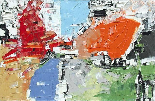 Jean-Paul Riopelle, la zone, 1956, huile sur toile.