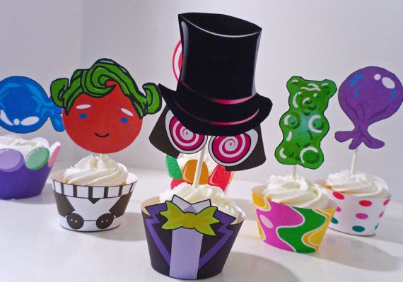 Image detail for -Willy Wonka Chocolate Factory Printable Party Cupcake Wrappers and ...