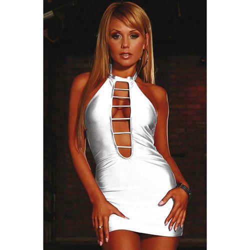 MINI ABITO BIANCO SEXY SEDUCTRESS DRESS - UNICA SALE:  29.96€