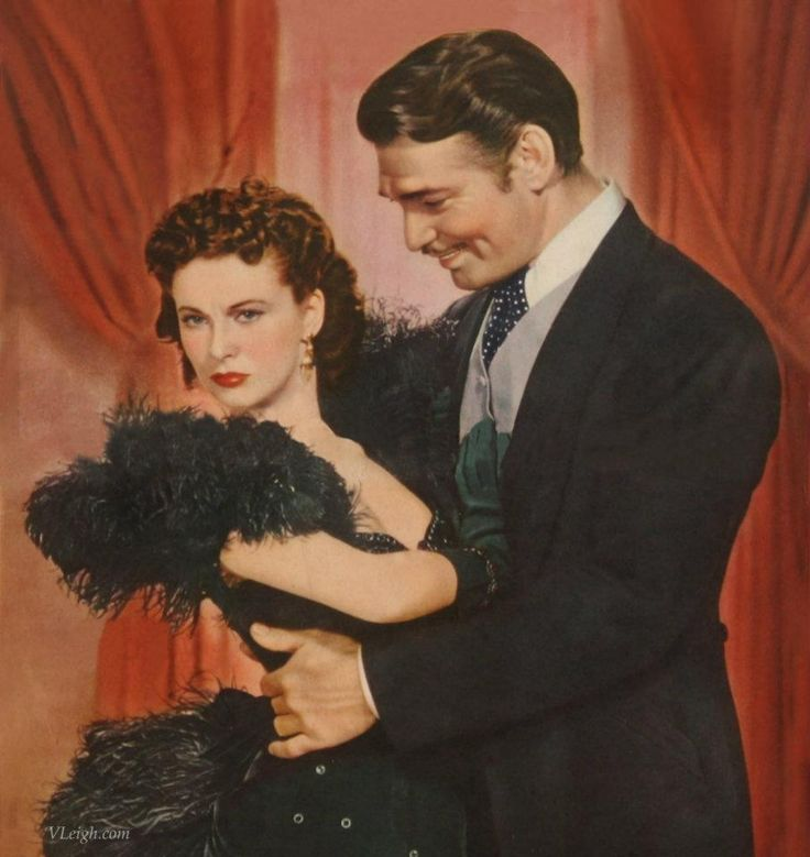 "Vivien Leigh & Clark Gable In ""Gone With The Wind"" (1939)"