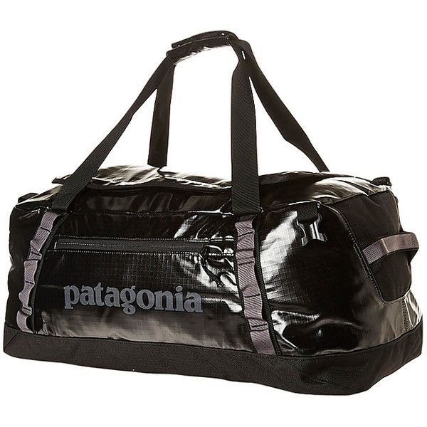 Patagonia Black Hole 120l Duffle Bag Black ($170) ❤ liked on Polyvore featuring men's fashion, men's bags, bags, black, duffle bags, men, men's duffel bags, mens bags and mens duffle bags