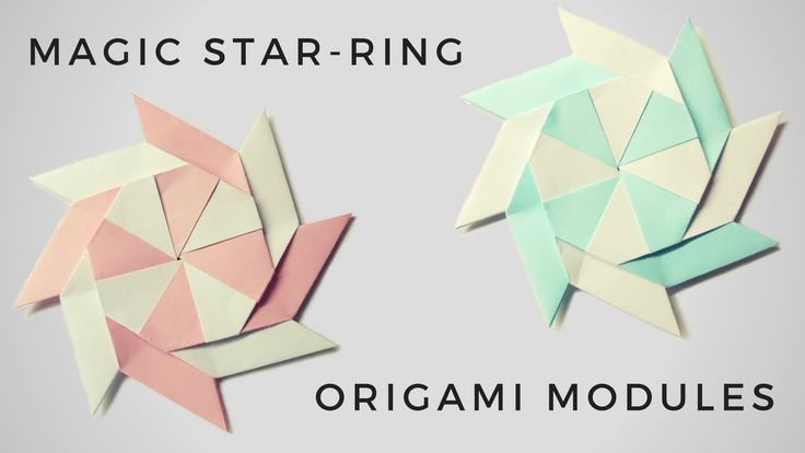 In this video I will show how to make Magic start -ring origami modules of paper Excellent modular origami model, has Repeat previous one feature, it can tra...