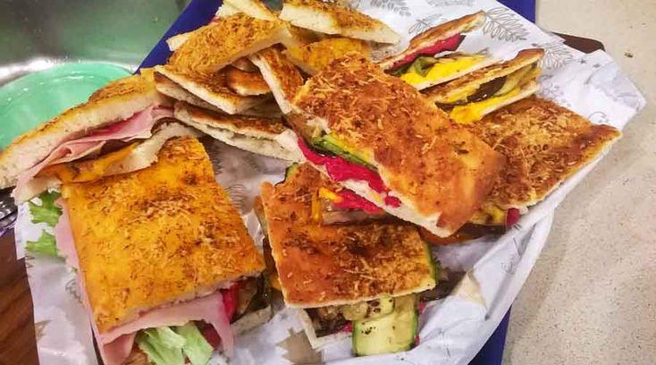 Sándwiches de pan de pizza para Año Nuevo