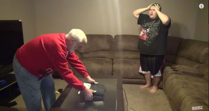 ANGRY GRANDPA DESTROYS PS4! - http://www.flickr.com/photos/132985713@N07/19786371286/