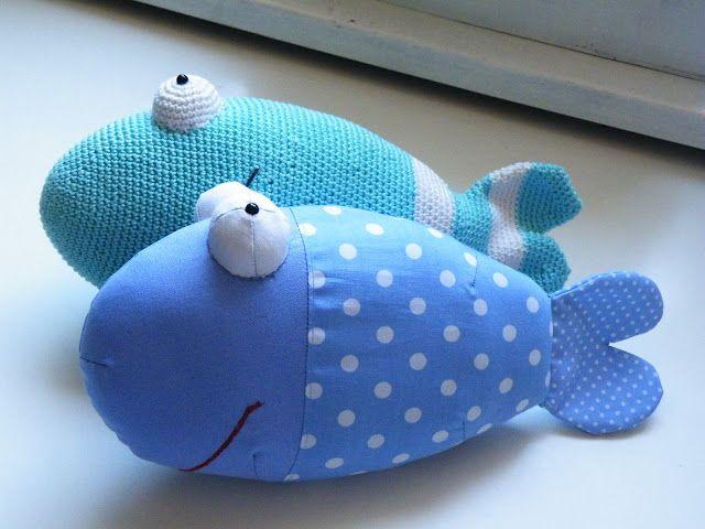 Pfiffigstes Häkelblog: Gratisschnittmuster für einen genähten Fisch!!! Nähen oder Häkeln?