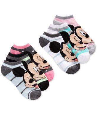 Disney Women's Mickey Mouse Dots No Show 6-Pk. Socks