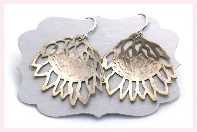 Protea Earrings by Janine Binneman Jewellery Design on hellopretty.co.za