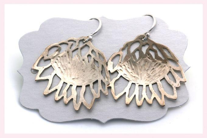 Protea Earrings by Janine Binneman Jewellery Design