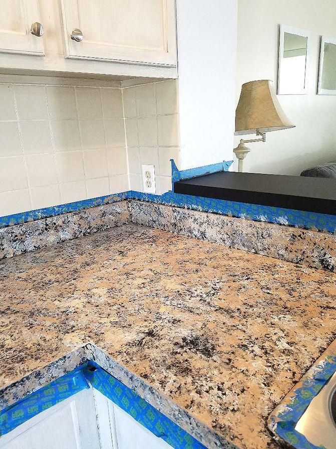 Diy Granite Countertops Yes Really The Honeycomb Home Diy