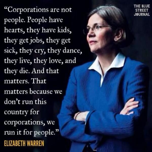 Elizabeth Warren... smart, tough and lives in the real world... and a nation that does not throw citizens in need under the bus, while corporate welfare & military waste is rampant...