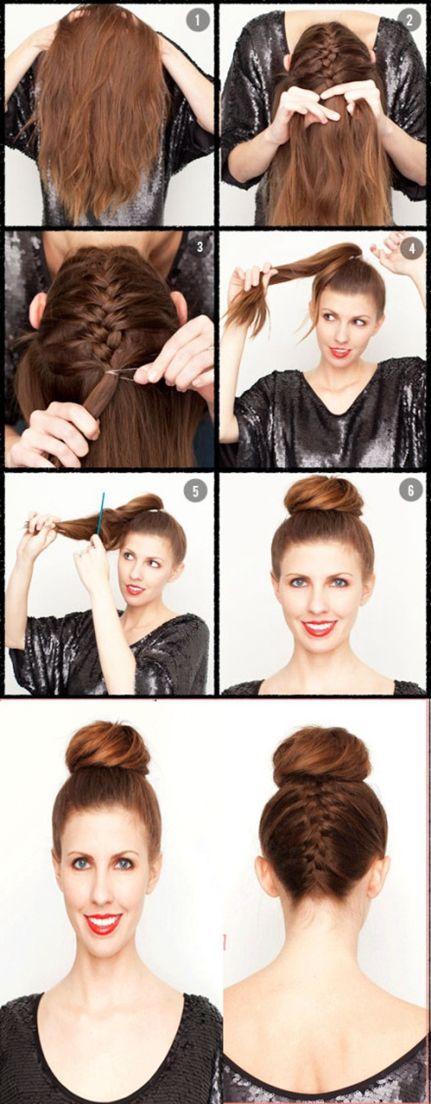 Hair Styles Hair Style Hair And Beauty Pinterest Hair Style French Braid And Bun Braid