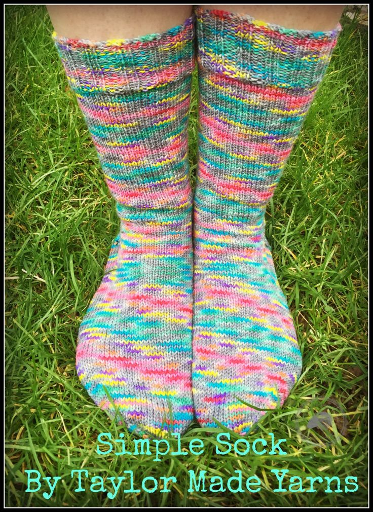 Simple Sock   KNITTING PATTERN by Sharon Taylor (Taylor Made Yarns) by…