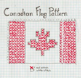 I figured I better make a Canadian Flag pattern version of the flag garland. So here it is: (Stay tuned for the Union Jack version)  Cana...