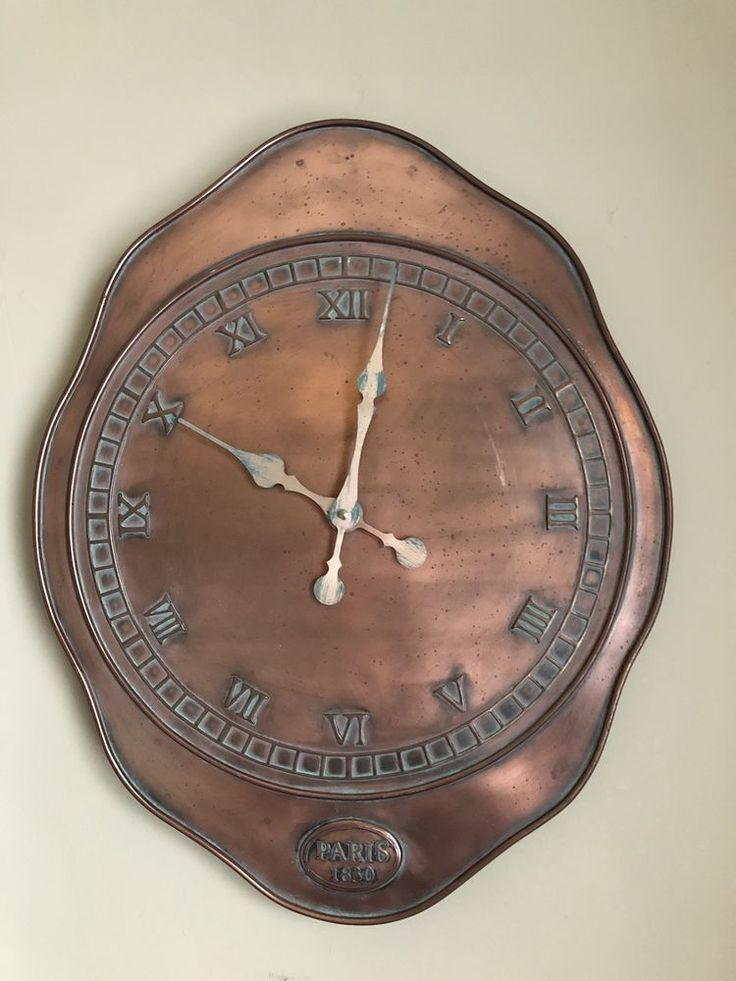 aged copper look verdigris battery operated wall clock on wall clocks battery operated id=79301