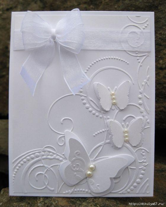 Открытка на свадьбу с бабочками