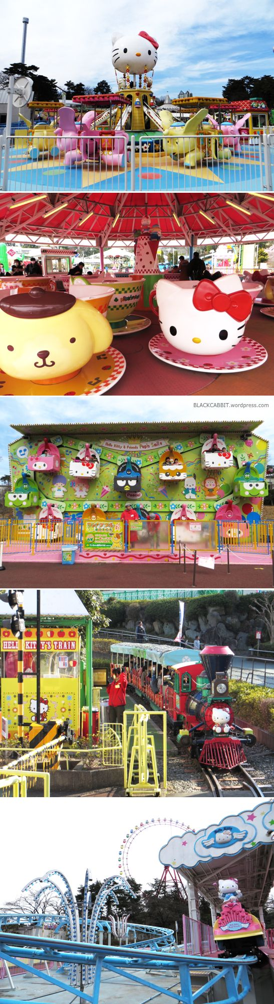 Hello Kitty Land, aka. Meruhen Town at Seibuen Amusement Park, Tokorozawa, Saitama prefecture.