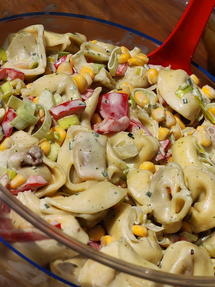 """...schlemmen ohne """"muh"""" und """"mäh""""....: Tortellini-Party-Salat"""