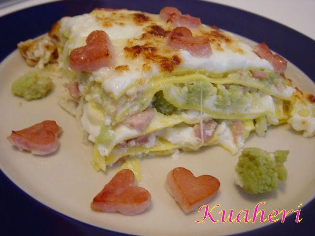 Lasagne ai broccoli con prosciutto innamorato TM31 - http://www.food4geek.it/ricette/lasagne-ai-broccoli-con-prosciutto-innamorato-tm31/
