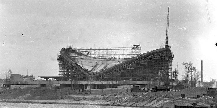 Bau der Kongresshalle Berlin-Tiergarten Foto: 1956/57 Berliner Verlag/Archiv