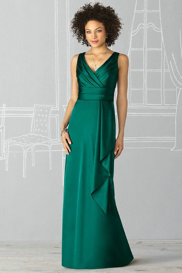 111 best party dresses images on pinterest christmas parties v neck sheath ruched satin green bridesmaid dresses ombrellifo Image collections